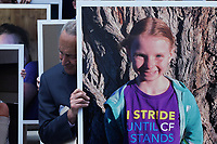 Washington, DC - July 9, 2019: U.S. Senate Minority Leader Chuck Schumer and US House Speaker Nancy Pelosi hold a news conference with Senate and House democrats about health care coverage for those with pre-existing conditions on July 09, 2019 in front of the U.S. Capitol Building Washington DC. (Photo by Lenin Nolly/Media Images International)