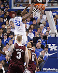 UK forward Alex Poythress makes a shot during the first half of the men's basketball game against Mississippi State at Rupp Arena in Lexington, Ky. on Saturday, February 27, 2013. Photo by Genevieve Adams
