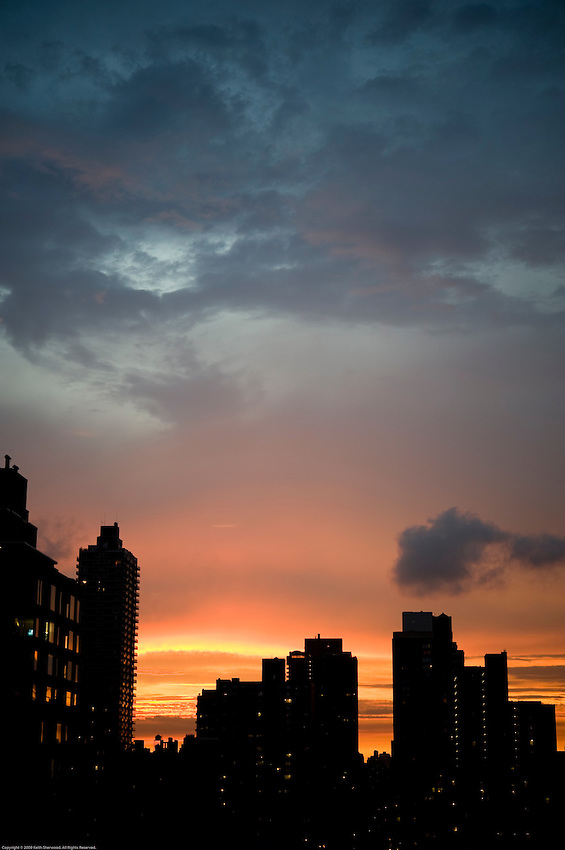 Summer sunset in the Upper East Side of Manhattan. August 21. 2009.
