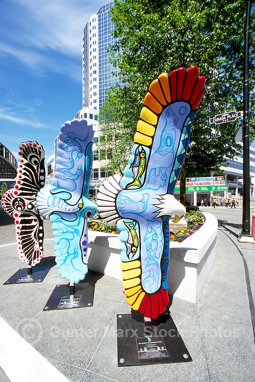 Vancouver, BC, British Columbia, Canada - Painted Eagle Bird Sculpture, Public Art Display, Urban Artwork Fundraising Campaign