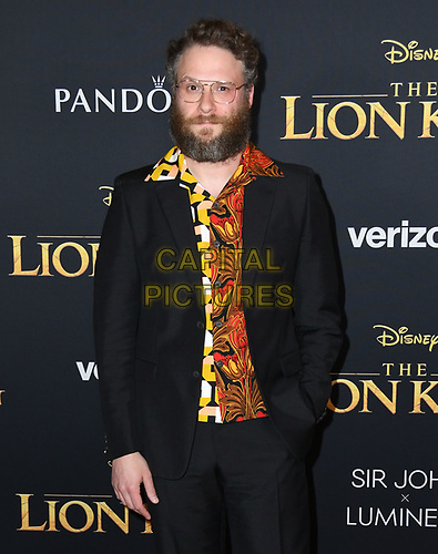 "09 July 2019 - Hollywood, California - Seth Rogen. Disney's ""The Lion King"" Los Angeles Premiere held at Dolby Theatre. <br /> CAP/ADM/BT<br /> ©BT/ADM/Capital Pictures"