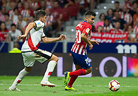 Angel Correa of Atletico Madrid during the match between Real Madrid v Rayo Vallecano of LaLiga, 2018-2019 season, date 2. Wanda Metropolitano Stadium. Madrid, Spain - 25 August 2018. Mandatory credit: Ana Marcos / PRESSINPHOTO
