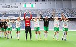 Stockholm 2015-04-11 Fotboll Damallsvenskan Hammarby IF DFF - Mallbackens IF Sunne  :  <br /> Hammarbys m&aring;lvakt Sofia Lundgren , Hel&eacute;n Eke , Moa Hedell , Clara Markstedt , Olga Ekblom och Madeleine Tegstr&ouml;m jublar med lagkamrater efter matchen mellan Hammarby IF DFF och Mallbackens IF Sunne  <br /> (Foto: Kenta J&ouml;nsson) Nyckelord:  Fotboll Damallsvenskan Dam Damer Tele2 Arena Hammarby HIF Bajen Mallbacken jubel gl&auml;dje lycka glad happy