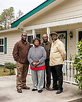 January 6, 2017. Charleston, South Carolina.<br />  <br /> The family of Walter Scott. (left to right) Younger brother Rodney Scott, mother Judy Scott, father Walter Scott, and older brother Anthony Scott. <br /> <br /> Walter Scott was shot on April 4, 2015, in North Charleston, South Carolina after a routine traffic stop by police officer Michael Slager. Fearing an outstanding warrant, Scott fled the scene and was briefly chased and caught  by Slager. After a scuffle, Scott ran again and was shot in the back by Officer Slager. A video taken by eyewitness Feidin Santana captured much of the incident, but some facts between the video and the officer's account were disputed.<br /> <br /> Officer Slager's first trial for murder ended on December 5, 2016 in mistrial after the jury couldn't reach a unanimous decision. The lead prosecutor in the case immediately announced her intent to retry Slager, who has also been indicted by federal prosecutors.