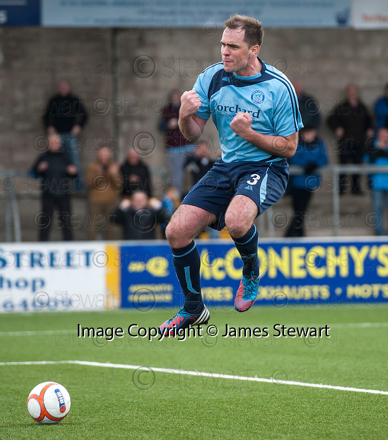 Forfar's Iain Campbell celebrates after he scores their second goal from the spot.