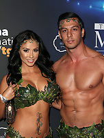 LOS ANGELES, CA - OCTOBER 21: Melissa Riso, Nick Gangi at 2017 MAXIM Halloween Party at LA Center Studios in Los Angeles, California on October 21, 2017. Credit: Faye Sadou/MediaPunch /NortePhoto.com
