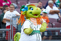"Dayton Dragons mascot ""Gem"" entertains fans prior to the game against the Bowling Green Hot Rods at Fifth Third Field on June 9, 2018 in Dayton, Ohio. The Hot Rods defeated the Dragons 1-0.  (Brian Westerholt/Four Seam Images)"
