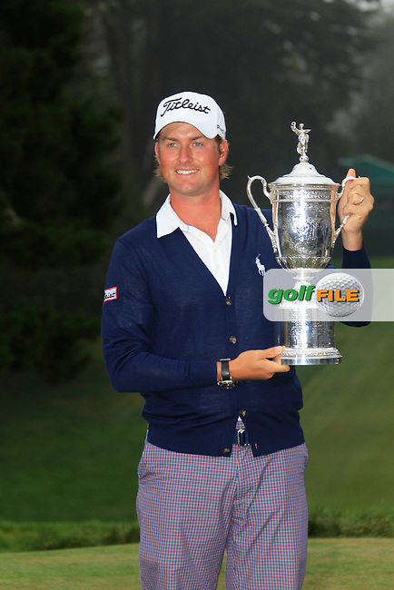 Webb Simpson (USA) wins the Championship at the end of Sunday's Final Round of the 112th US Open Championship at The Olympic Club, San Francisco,  California, 17th June 2012 (Photo Eoin Clarke/www.golffile.ie)