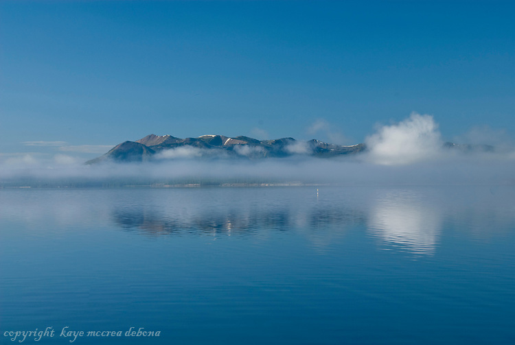 Early Morning Mist on Mt. Doane and Lake Yellowstone