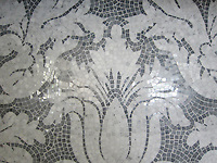 Kingston Lacey in Calacatta Tia and Bardiglio.<br /> -Rogers &amp; Goffigon for New Ravenna Mosaics