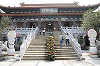 General views of a Bhudist Temple at Ngong Ping Village on Lantau Island, Hong Kong on 6.4.19.