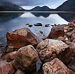 Rocks In Jordan Pond On A Cool, Quiet Autumn Evening, Acadia National Park, Maine