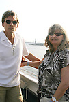 Grant Aleksander and wife Sherry & Statue of Liberty - Day 1 July 31, 2010 - So Long Springfield at Sea - A Final Farewell To Guiding Light sets sail from NYC to St. John, New Brunwsick and Halifax, Nova Scotia from July 31 to August 5, 2010  aboard Carnival's Glory (Photos by Sue Coflin/Max Photos)