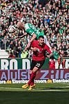 13.04.2019, Weserstadion, Bremen, GER, 1.FBL, Werder Bremen vs SC Freiburg<br /> <br /> DFL REGULATIONS PROHIBIT ANY USE OF PHOTOGRAPHS AS IMAGE SEQUENCES AND/OR QUASI-VIDEO.<br /> <br /> im Bild / picture shows<br /> Davy Klaassen (Werder Bremen #30) im Duell / im Zweikampf mit Jerome Gondorf (SC Freiburg #20), <br /> <br /> Foto © nordphoto / Ewert