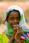 A displaced girl in Darfur.