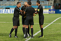 Couva, Trinidad & Tobago - Tuesday Oct. 10, 2017: Referees during a 2018 FIFA World Cup Qualifier between the men's national teams of the United States (USA) and Trinidad & Tobago (TRI) at Ato Boldon Stadium.
