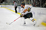 30 October 2010: University of Vermont Catamount forward Matt Marshall, a Junior from Hingham, MA, in action against the University of Maine Black Bears at Gutterson Fieldhouse in Burlington, Vermont. The Black Bears defeated the Catamounts 3-2 in sudden death overtime. Mandatory Credit: Ed Wolfstein Photo