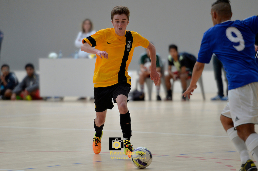 Action from the Futsal Regional Championships at Te ASB Sports Centre, Kilbirnie, New Zealand on Sunday 23 March 2014. <br /> Photo by Masanori Udagawa. <br /> www.photowellington.photoshelter.com.