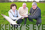 Sheila and Denis McCarthy, Coolcorcoran, Killarney, who are leasing some land to  Killarney UDC for 40 allotments pictured with Killarney Mayor Cllr Sean Counihan...................