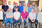 Pat Gill, the Inn Between Bar, Beaufort, pictured with Kieran Breen, Dave Peeden, Tom Cronin, Matt Lacey, Cian Buckley, Phil Standing, Kevin McCann, Paul Kelly, Dermot Kelliher, Tim, Albert and Donal Kelly at the Inn Between Darts Tournament on Saturday night.