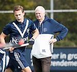 AMSTELVEEN - looptrainer van Pinoke, Menno Lievers,. . Hoofdklasse competitie heren. Pinoke-SCHC (0-1) . COPYRIGHT  KOEN SUYK