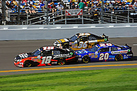 Denny Hamlin (#18), Ryan Truex (#36) and Joey Logano (#20)