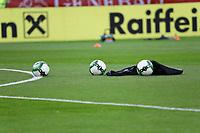 verwaister Platz wegen Regen - 02.06.2018: Österreich vs. Deutschland, Wörthersee Stadion in Klagenfurt am Wörthersee, Freundschaftsspiel WM-Vorbereitung
