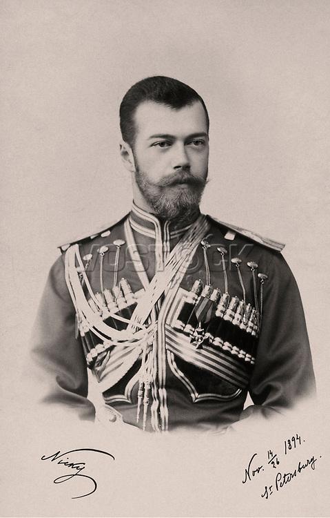 Emperor Nicholas II in the form of the Life Guards of the Hussars of His Majesty the Regiment, 1894 - 1896. / Государь Император Николай II в форме Лейб-гвардии Гусарского Его Величества полка, 1894 - 1896.