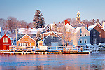 A winter morning on the Piscataqua River, Portsmouth, NH, USA