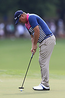 Jason Dufner (USA) putts on the 15th green during Friday's Round 2 of the 2017 PGA Championship held at Quail Hollow Golf Club, Charlotte, North Carolina, USA. 11th August 2017.<br /> Picture: Eoin Clarke | Golffile<br /> <br /> <br /> All photos usage must carry mandatory copyright credit (&copy; Golffile | Eoin Clarke)