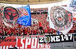 12.05.2018, OLympiastadion, Berlin, GER, 1.FBL, Hertha BSC VS. RB Leipzig, im Bild <br /> Leipziger Fans, Fanblock, Fan<br /> <br /> <br />       <br /> Foto &copy; nordphoto / Engler