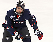 David Drake (UConn - 22) - The Boston College Eagles defeated the visiting University of Connecticut Huskies 3-2 on Saturday, January 24, 2015, at Kelley Rink in Conte Forum in Chestnut Hill, Massachusetts.