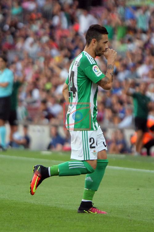 League Santander 2016/2017. Game: 1.<br /> FC Barcelona vs Real Betis: 6-2.<br /> Ruben Castro.