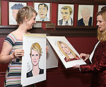 Cynthia Nixon and Laura Linney attend the portrait unveilings of Laura Linney and Cynthia Nixon starring on Broadway in the Manhattan Theatre Club's THE LITTLE FOXES, at Sardi's on June 29, 2017 in New York City.
