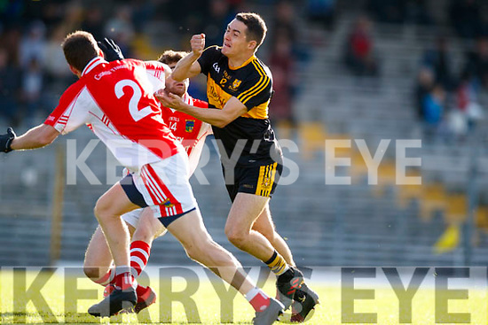 Brian Looney Dr Crokes in action against Colm Ó Muircheartaigh West Kerry in the Kerry Senior Football Championship Semi Final at Fitzgerald Stadium on Saturday.