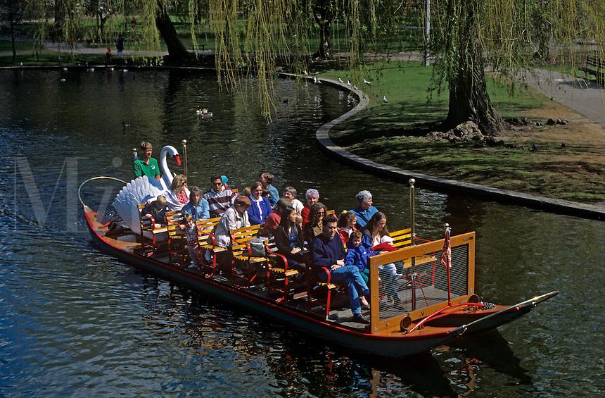 Swan boats Boston Public Gardens