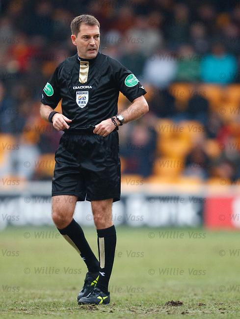 Referee Dougie McDonald