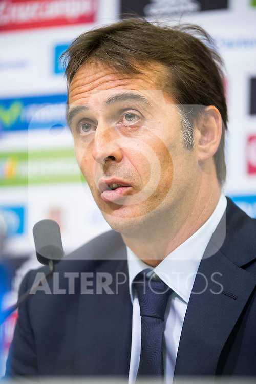 Basque coach Julen Lopetegui is presented as new coach of the Spanish Team at Ciudad del Futbol in Las Rozas, Madrid. Spain. 21 July. 2016. (ALTERPHOTOS/Borja B.Hojas)