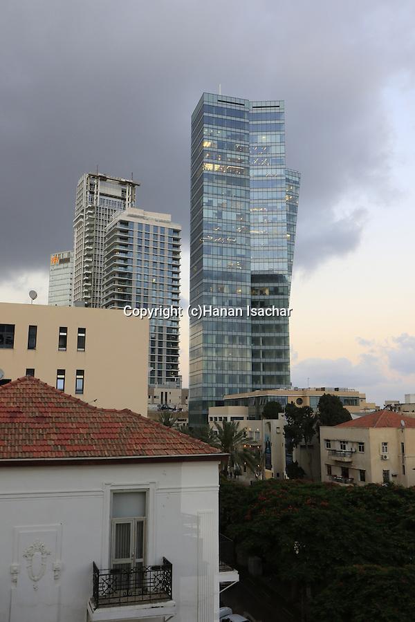 Israel, Tel Aviv, towers on Rothschild Boulevard