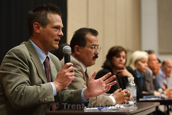Trent Nelson  |  The Salt Lake Tribune.Draper - Press conference following the execution of Ronnie Lee Gardner by firing squad Friday, June 18, 2010. media witnesses, including nate carlisle