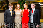 Enjoying the Gaelcholáiste Chiarraí Debs ball at the Brandon Hotel on Saturday were l-r  Daniel Murphy, Aoife O'Carroll, Christine Cooper and Dillon Harris