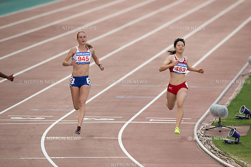 Anna Doi, (JPN), JULY 9, 2015 - Athletics : The 28th Summer Universiade 2015 Gwangju Women's 100m Final at the Gwangju Universiade Main Studium in Gwangju, South Korea. (Photo by Takashi OKUI/AFLO)