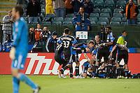 SANTA CLARA, CA--San Jose Earthquakes defeat the Houston Dynamo 2-0 at Buck Shaw Stadium in Santa Clara, CA.