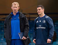 Leinster's Head Coach Leo Cullen and Leinster's Johnny Sexton<br /> <br /> Photographer Bob Bradford/CameraSport<br /> <br /> Heineken Champions Cup Pool 1 - Bath v Leinster - Saturday 8th December 2018 - The Recreation Ground - Bath<br /> <br /> World Copyright © 2018 CameraSport. All rights reserved. 43 Linden Ave. Countesthorpe. Leicester. England. LE8 5PG - Tel: +44 (0) 116 277 4147 - admin@camerasport.com - www.camerasport.com
