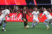 Atlanta, Georgia - Sunday September 24, 2017: Atlanta United stretched their home unbeaten streak to 11 matches with a 2-0 win over the Montreal Impact in front of a crowd of 43,502 at Mercedes Benz Stadium.