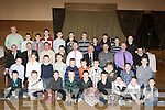 MEDALS/PLAGUES: The young players of Lixnaw Hurling GAA Club who with their mentors  were presented with medals and plaques at Lixnaw Hurling GAA Annual Social in Ballyroe Heights Hotel, Tralee on Friday night...... ....