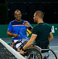 Rotterdam, The Netherlands, 11 Februari 2020, ABNAMRO World Tennis Tournament, Ahoy, <br /> Wheelchair tennis: Maikel Scheffers (NED) and Tom Egberink (NED).<br /> Photo: www.tennisimages.com