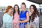 Stacy O'Connor, Niamh O'Connell, Lisa Kelly and Ruth Lenihan at Listowel Races Ladies Day on Sunday.