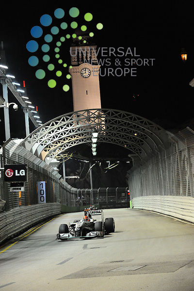 F1 GP of Singapore, Singapore  24.- 26. Sept. 2010.Michael Schumacher (GER), Mercedes GP ...Picture: Hasan Bratic/Universal News And Sport (Europe). 24 September 2010.