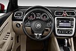 Steering wheel view of a 2012 Volkswagen EOS Komfort